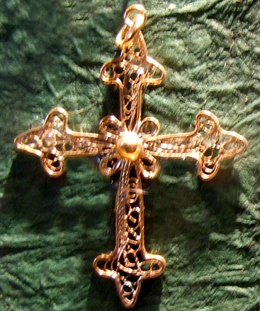 Fleur de Lis Cross - Bigfoot Cross Museum